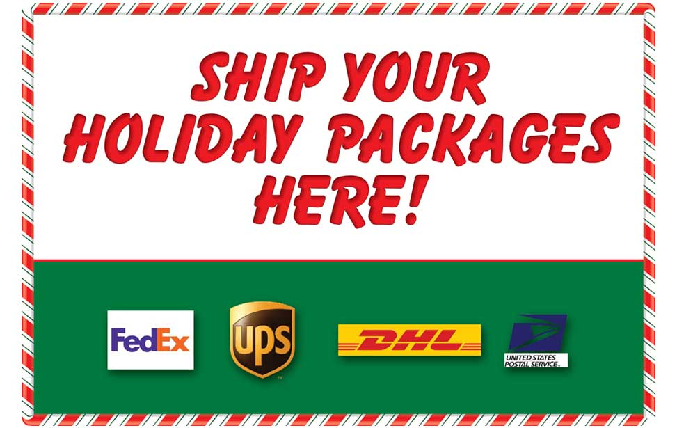 Holiday shipping banner