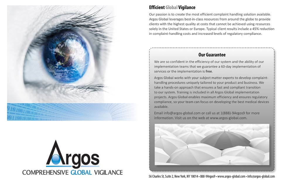 Argos International overview front and back covers