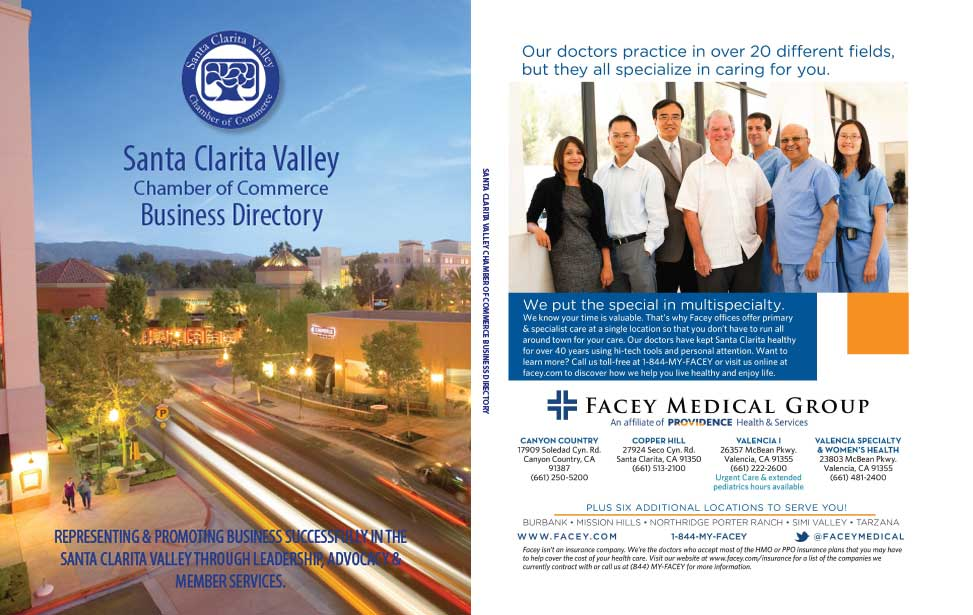 Chamber of Commerce Directory outside front and back covers